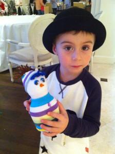 Снеговички, новогодний мастер-класс для детей, чудные штуки