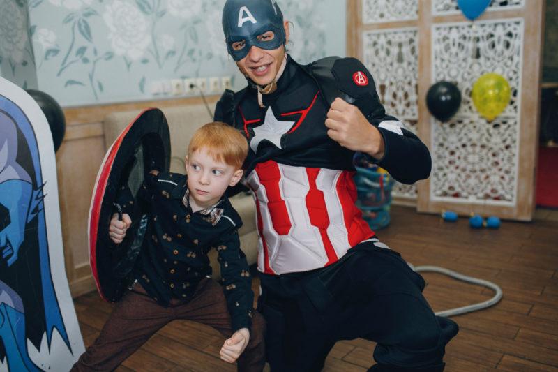 детский праздник, гости, супергерои