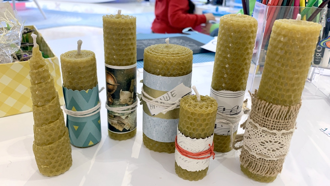 Медовые свечи из вощины
