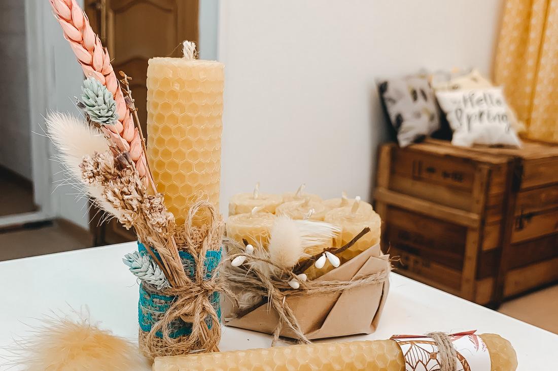 Медовые свечи, чудные штуки, чудная мастерская, свечи из вощины